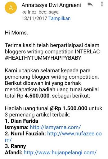 pemenang lomba blog interlac