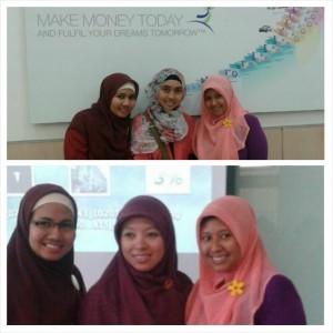 Training offline atas:bersama tim Jakarta, mba Inda dan mba Ika, Manager bawah:bersama pemateri mba Dian Endryana, Executive Director