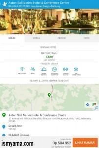 Detail hotel