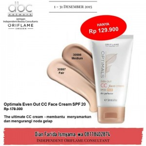 Optimals Even Out CC Face Cream Oriflame