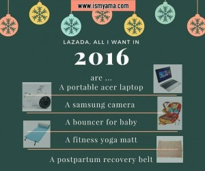 Lazada, all i want in 2016 are