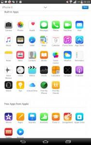 Beberapa aplikasi iPhone 6