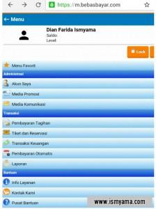 Tampilan member area BebasBayar via mobile