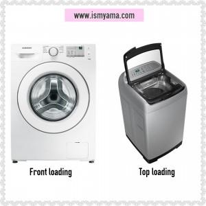 Contoh tampilan front loading vs top loading