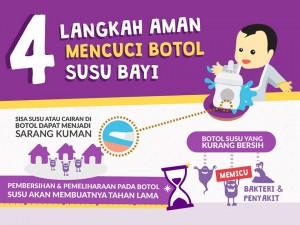 4 langkah membersihkan botol susu