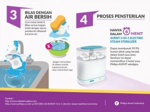 Cara membersihkan botol susu, langkah 3 dan 4