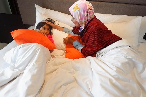 kamar tidur bellezza suites hotel