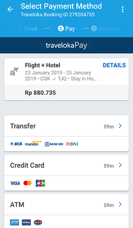 payment traveloka