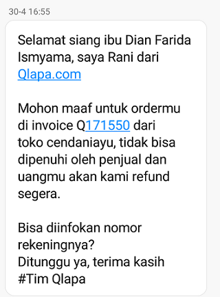customer care qlapa