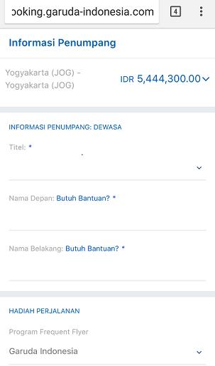 informasi penumpang