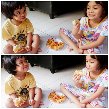 makan pizza