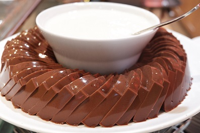 puding cokelat