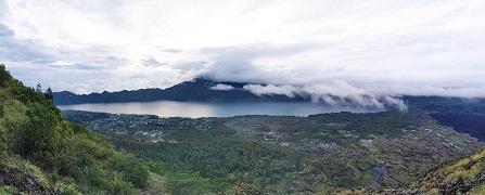 dari atas Gunung Batur