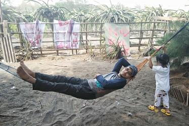 hammock pantai
