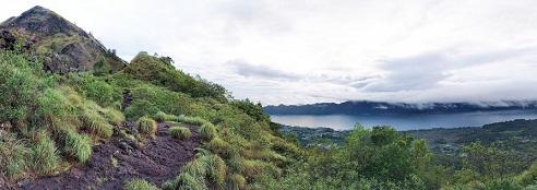 pemandangan gunung batur