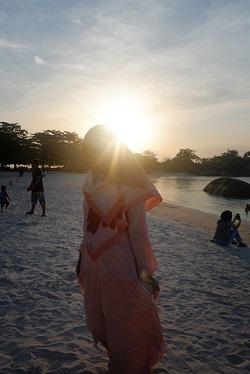 foto senja pantai belitung