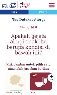 gejala alergi susu