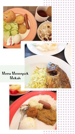 menu restoran movenpick mekah