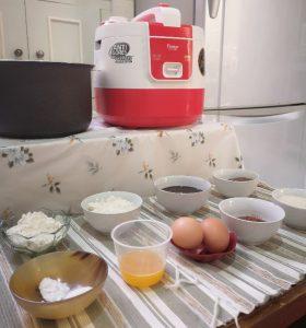 bahan brownies kukus rice cooker