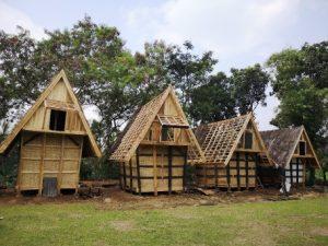 rumah tradisional di Kampung Sindang Barang