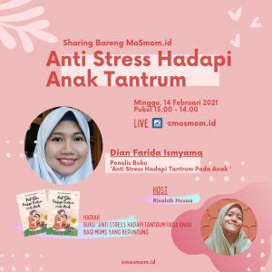 Penulis buku Anti Stres Hadapi Tantrum pada Anak