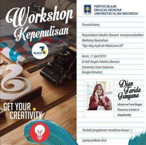 Workshop kepenulisan blogger Indonesia
