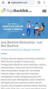 Backlink murah dari RajaBacklink