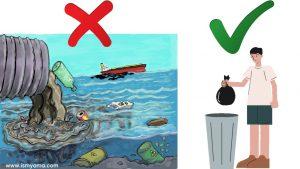 Akibat sampah di laut