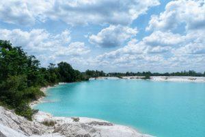 Lokasi danau kaolin Belitung
