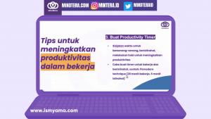 Tips meningkatkan produktivitas kerja